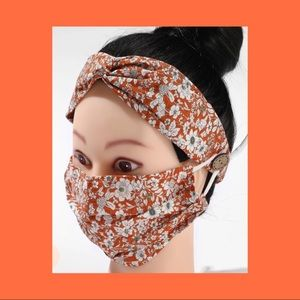 Face Mask and Headband Set - reusable /washable